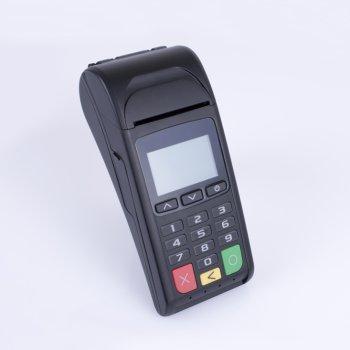 pos bancar cu NFC blue pad 5000 ecran alb negru